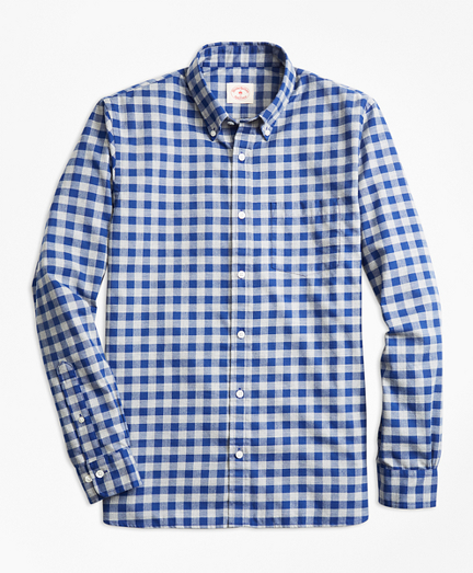 Gingham Brushed Twill Sport Shirt