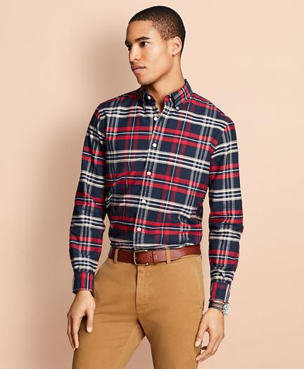 Yarn-Dyed Plaid Oxford Sport Shirt