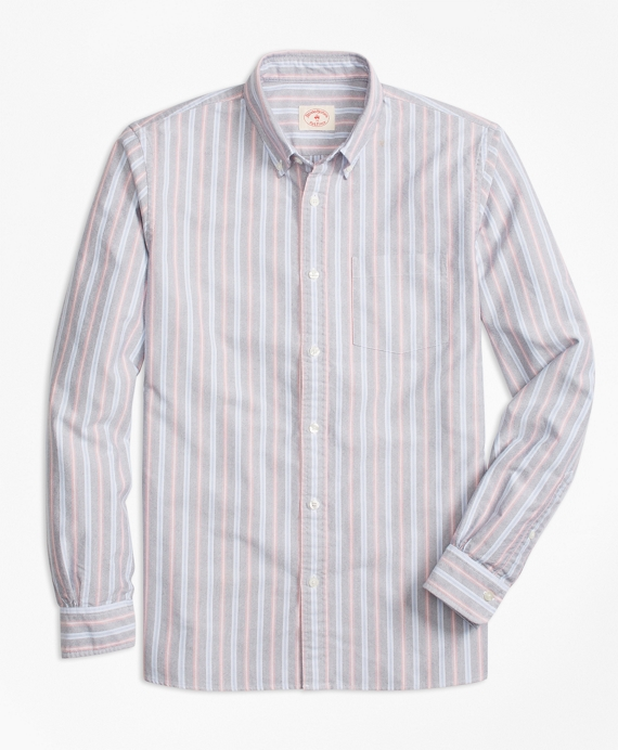 Yarn-Dyed Stripe Oxford Sport Shirt Multi