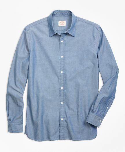 Pindot Chambray Sport Shirt