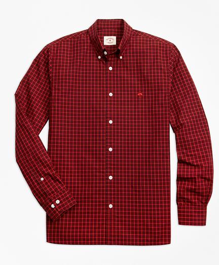 Yarn-Dyed Check Cotton Poplin Sport Shirt