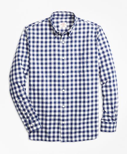 Gingham Brushed Cotton Flannel Sport Shirt