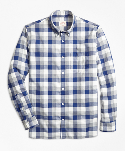 Exploded Gingham Brushed Cotton Flannel Sport Short