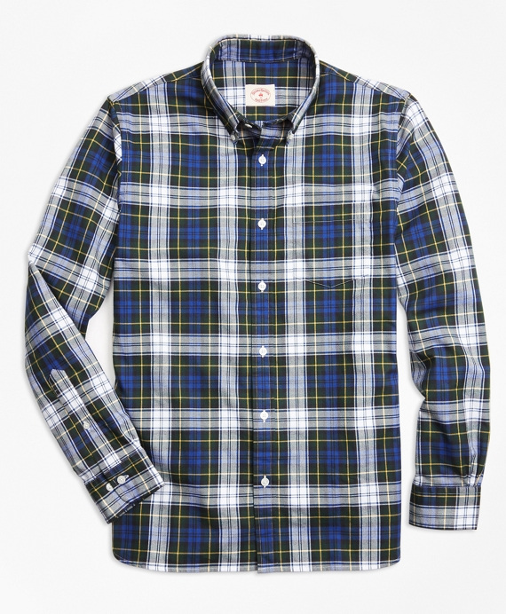 Gordon Dress Tartan Cotton Flannel Sport Shirt Blue-Green