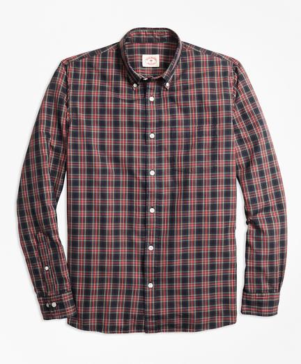 Stewart Tartan Cotton Basketweave Oxford Sport Shirt