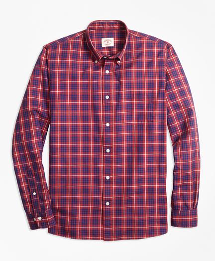 Tartan Cotton Basketweave Oxford Sport Shirt