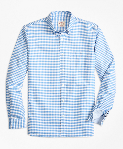 Gingham Cotton Oxford Sport Shirt