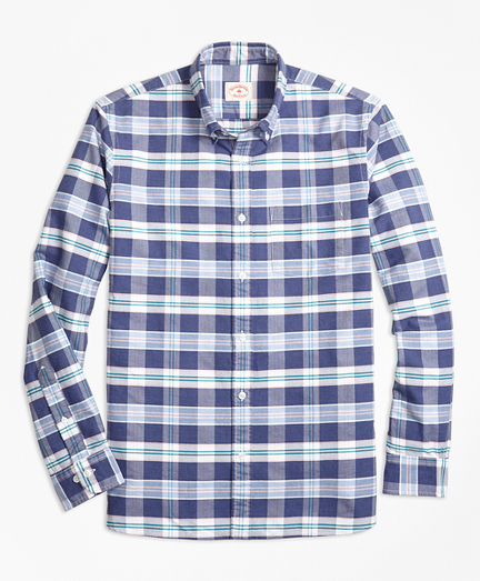 Plaid Supima® Cotton Oxford Sport Shirt
