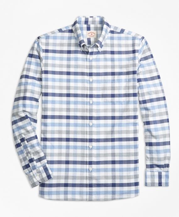 Checked Supima® Cotton Oxford Sport Shirt
