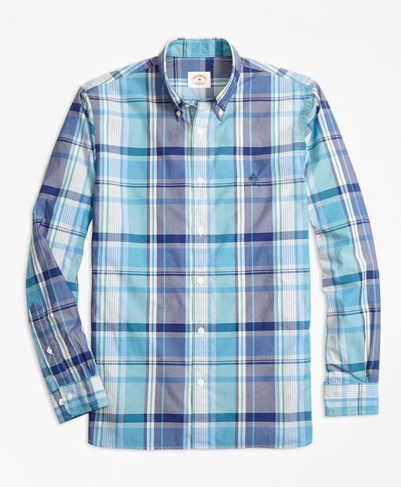 Madras Plaid Cotton Poplin Sport Shirt