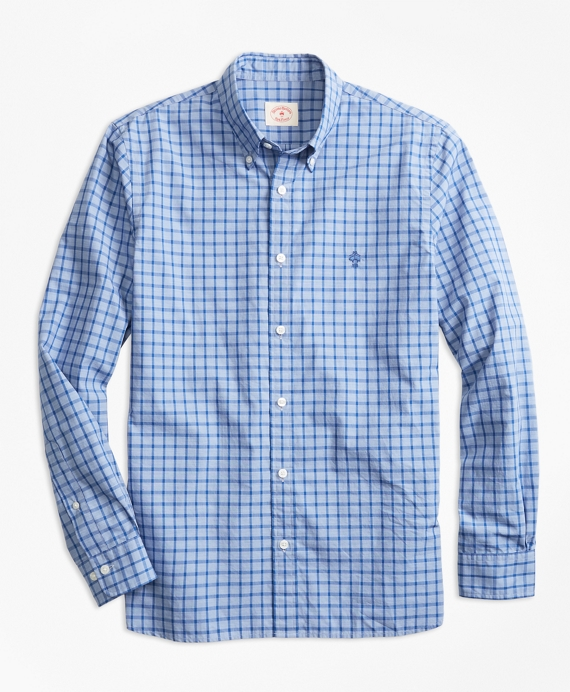 Check End-On-End Broadcloth Sport Shirt