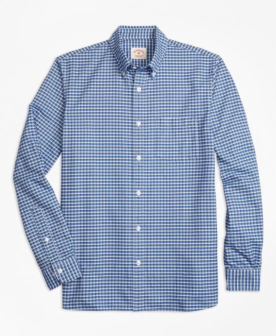 Check Supima® Cotton Oxford Sport Shirt Blue