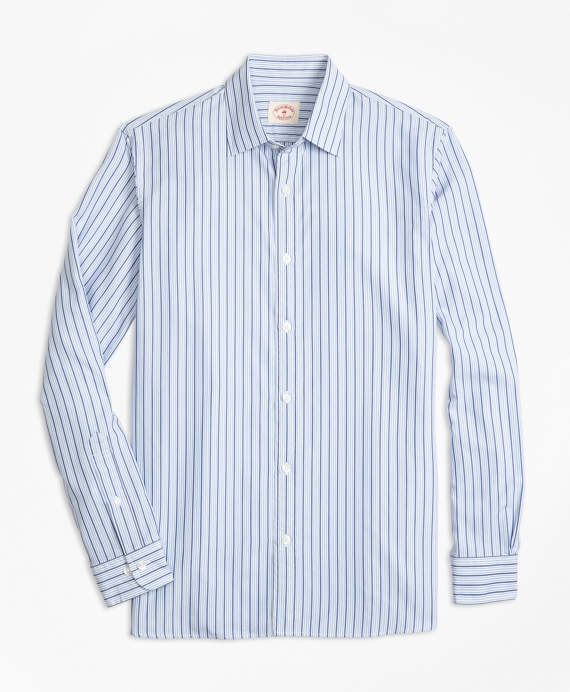 Stripe Nine-to-Nine Cotton Poplin Shirt Blue