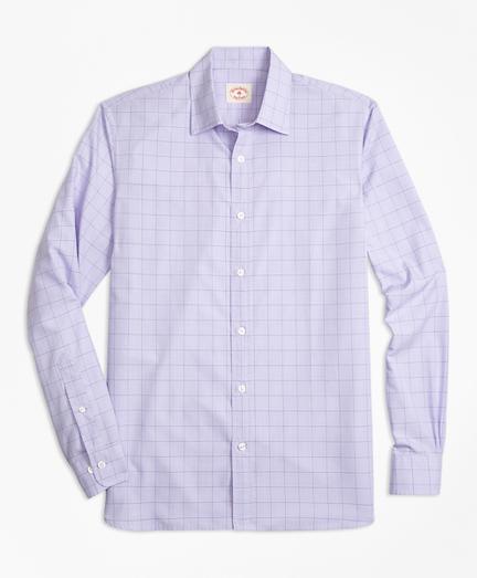 Glen Plaid Nine-to-Nine Cotton Poplin Shirt