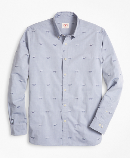 Sailor's Knot Chambray Jacquard Sport Shirt