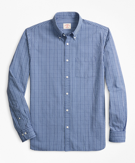 Glen Plaid Seersucker Sport Shirt