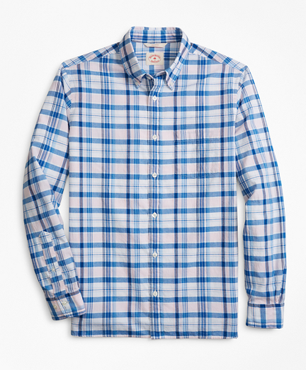 Plaid Madras Sport Shirt