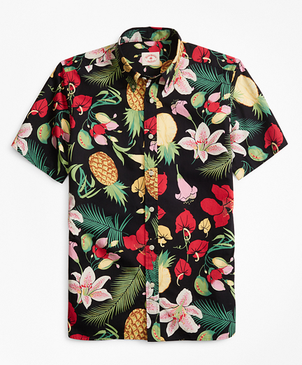 Tropical-Print Short-Sleeve Sport Shirt