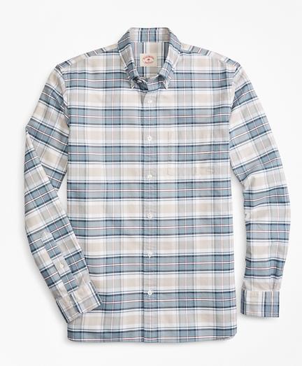 Plaid Supima® Cotton Oxford Sport Shirt