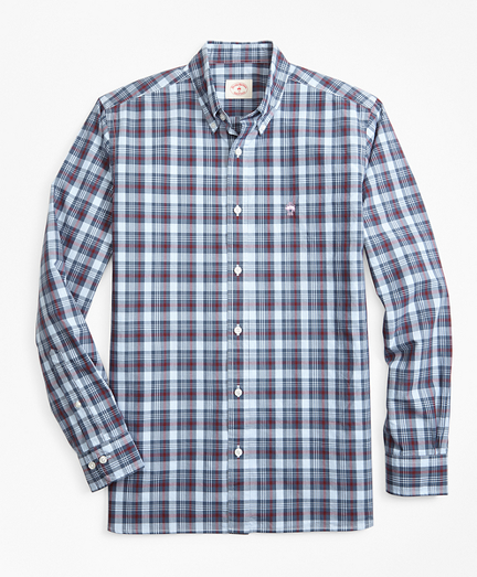 Plaid Garment-Dyed Cotton Sport Shirt