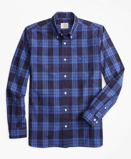 Plaid Garment-Dyed Cotton Sport Shirt