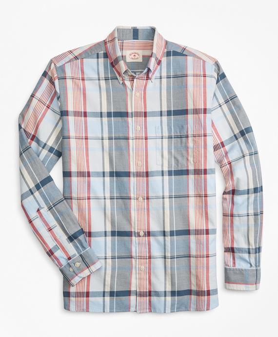 c95d6514723 Plaid Summer Twill Sport Shirt - Brooks Brothers