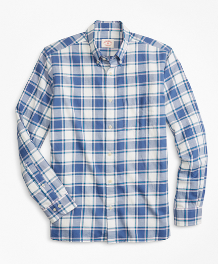 Plaid Summer Twill Sport Shirt