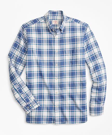 Plaid Summer Twill Sport Shirt