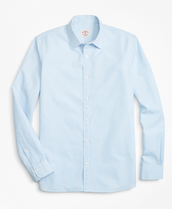 Striped Nine-to-Nine Cotton Poplin Shirt Blue