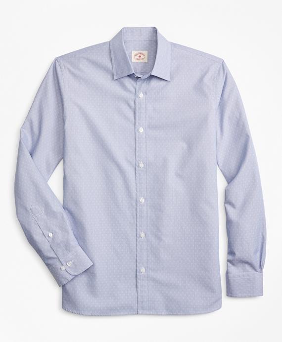 Striped Nine-to-Nine Cotton Dobby Shirt Blue