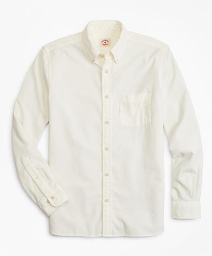 Garment-Dyed 21-Wale Corduroy Sport Shirt