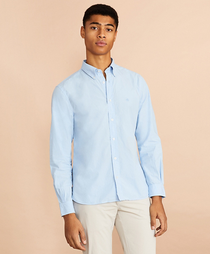 Garment-Dyed Cotton Broadcloth Sport Shirt