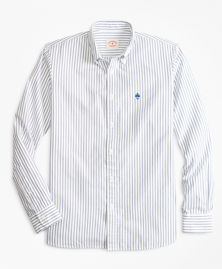 Striped Basketweave Oxford Sport Shirt