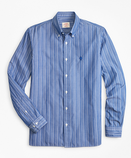 Striped Cotton Broadcloth Sport Shirt