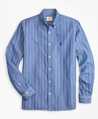 Striped Cotton Broadcloth Sport Shirt