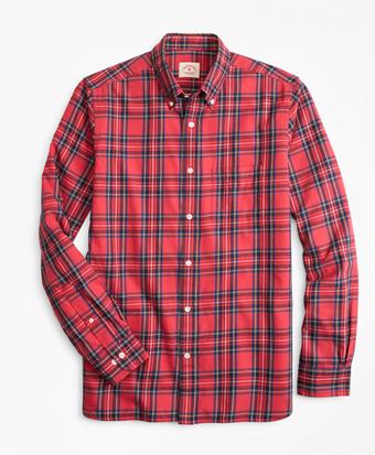 Stewart Tartan Cotton Flannel Sport Shirt