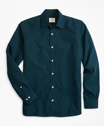 Black Watch Tartan Nine-to-Nine Spread Collar Shirt