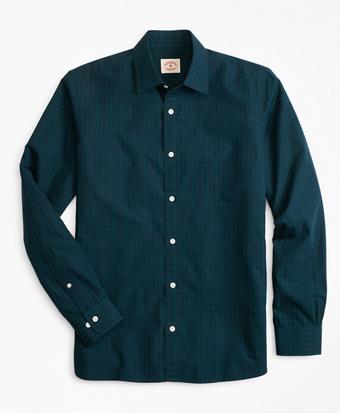 Black Watch Tartan Nine-to-Nine Spread Collar Shirt