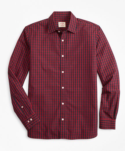 Tartan Nine-to-Nine Spread Collar Shirt