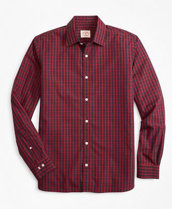 Tartan Nine-to-Nine Spread Collar Shirt