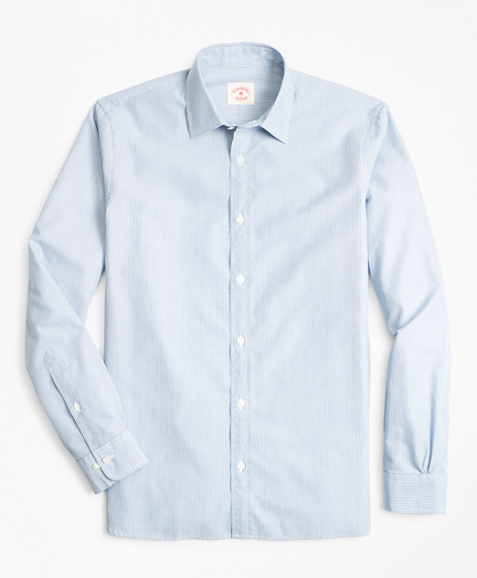 Multi-Stripe Nine-to-Nine Cotton Broadcloth Sport Shirt