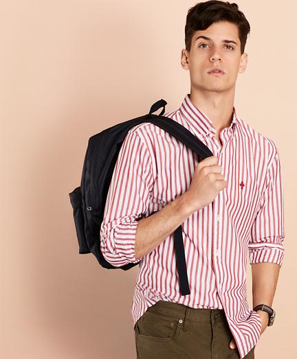Striped Poplin Sport Shirt