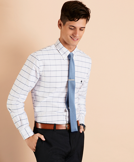 Windowpane Oxford Sport Shirt