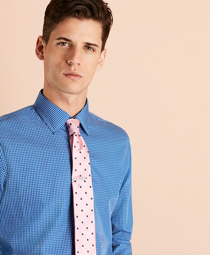 Windowpane Nine-to-Nine Cotton Broadcloth Sport Shirt