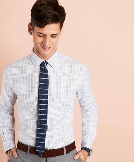 Windowpane Nine-to-Nine Cotton Broadcloth Sport Shirt