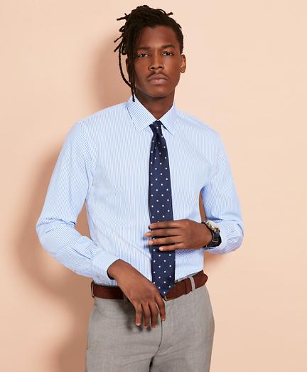 Stripe Nine-to-Nine Cotton Broadcloth Sport Shirt