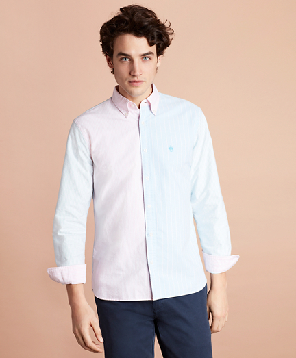 Cotton Oxford Striped Fun Sport Shirt