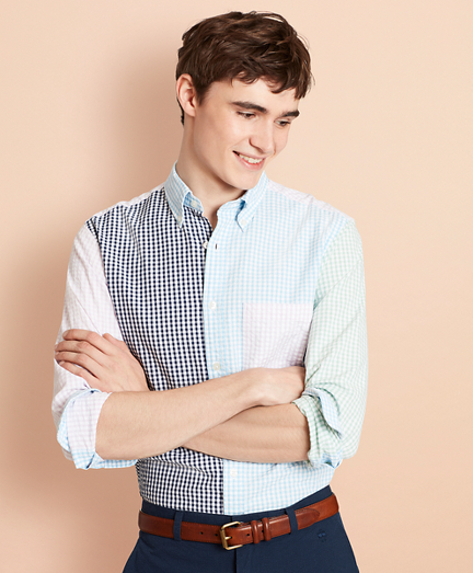 Gingham Seersucker Fun Sport Shirt