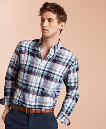 Madras Cotton Sport Shirt