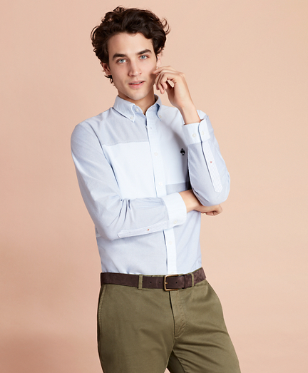 Patchwork Oxford Sport Shirt